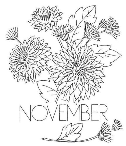 Free November Coloring Pages Printable