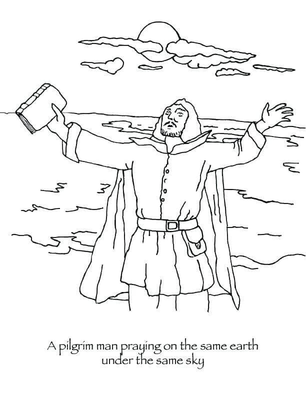 Free Pilgrims Coloring Pages