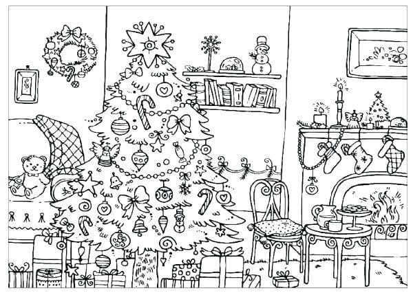 Free Printable Christmas Tree Coloring Pictures