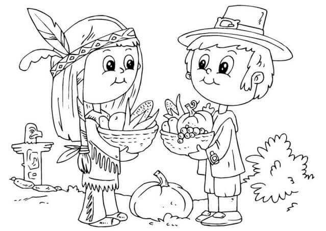 Free Printable Pilgrims Coloring Pages