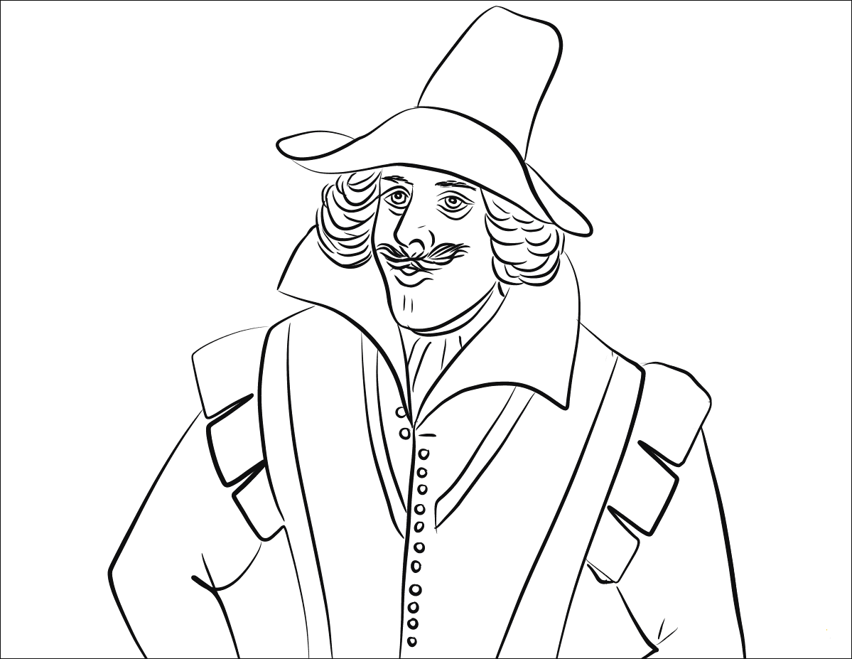 Guy Fawkes Coloring Pages