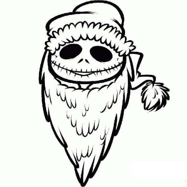 Jack Skellington As Santa Coloring Page