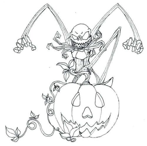 Jack Skellington Halloween Coloring Page