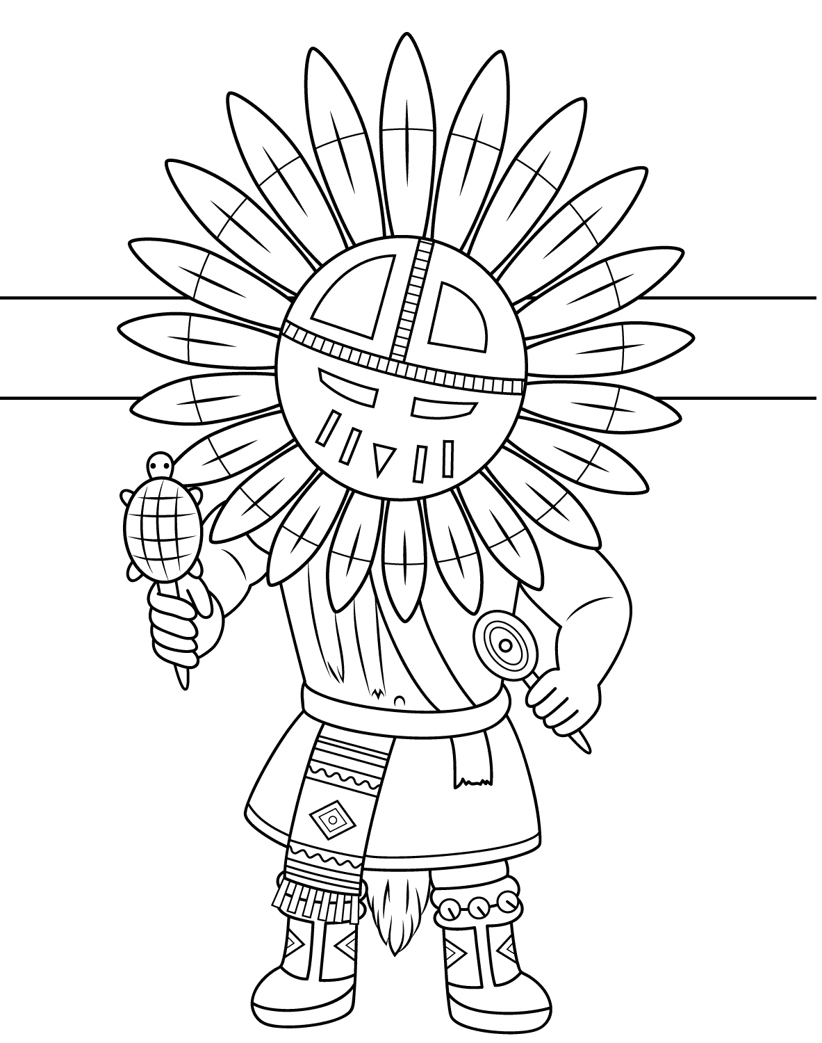 Kachina Native Americans Coloring Page