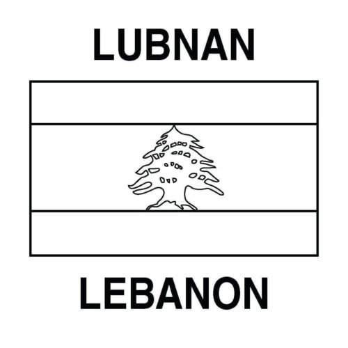 Lebanon Independence Day Coloring Pages