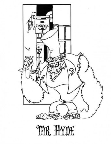 Mr Hyde From Nightmare Before Christmas Coloring Pages