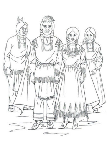 Native Americans Adult Coloring Pages - Adult Coloring Pages ... | 500x354