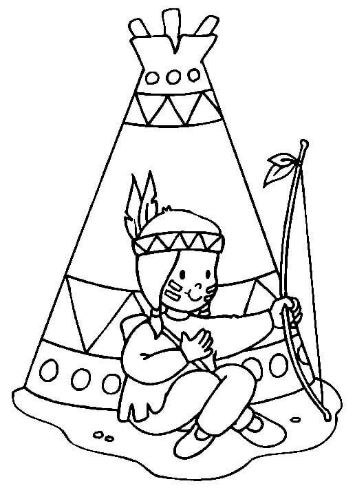 Native American Coloring Pages For Kids