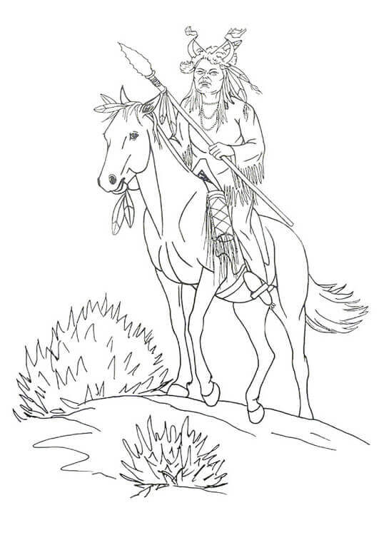 Native American Coloring Pages PDF