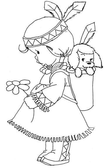 Native American Coloring Pictures Printable
