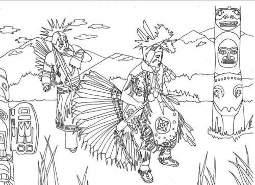 Native American Coloring Sheets To Print