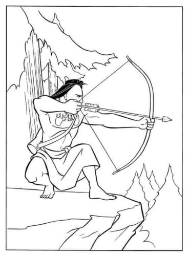 Native American Colouring Pages
