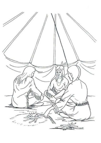 Native American Women Coloring Pages