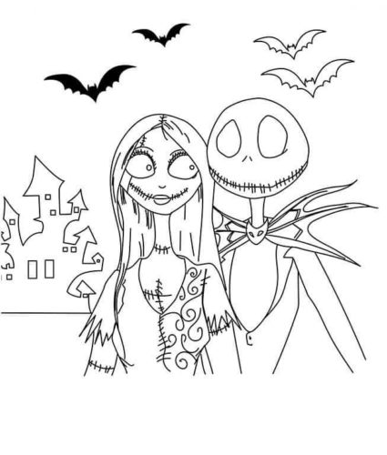 Nightmare Before Christmas Coloring Images