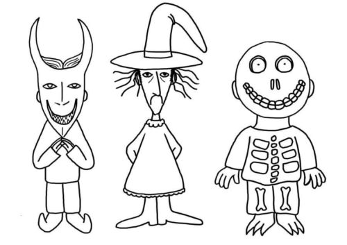 Nightmare Before Christmas Coloring Pictures Lock Shock and Barrel