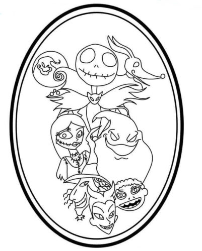 Nightmare Before Christmas Coloring Pictures To Print