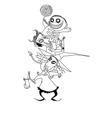 Nightmare Before Christmas Coloring Sheets Lock Shock and Barrel