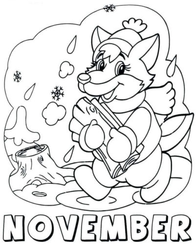 November Coloring Images Printable