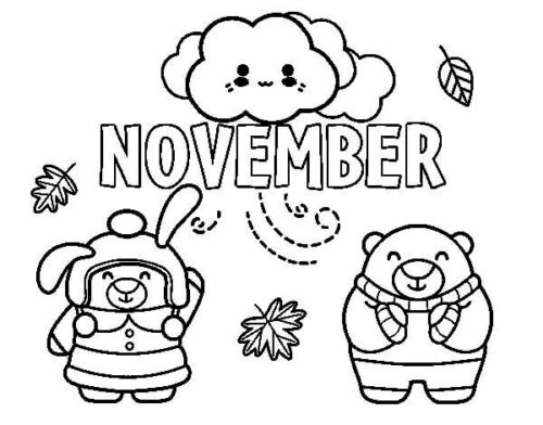 20 Free November Coloring Pages Printable - ScribbleFun