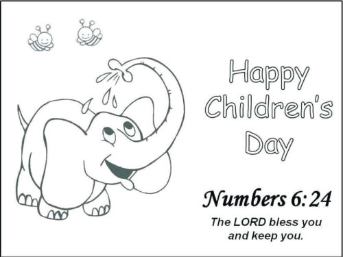 November Coloring Pages Childrens Day