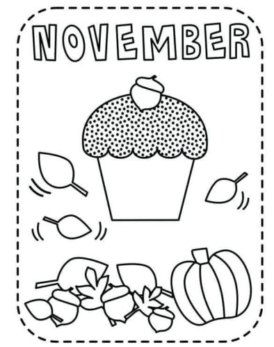 November Coloring Sheets