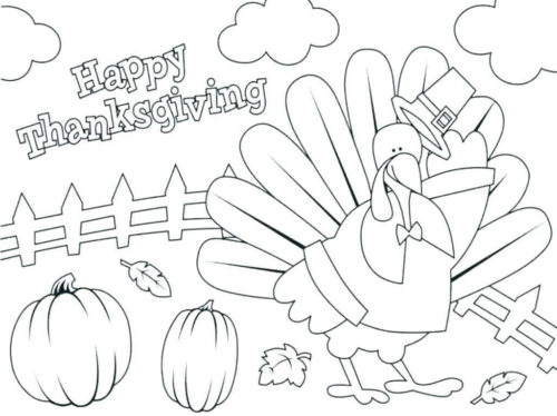 November Coloring Sheets Printable Thanksgiving