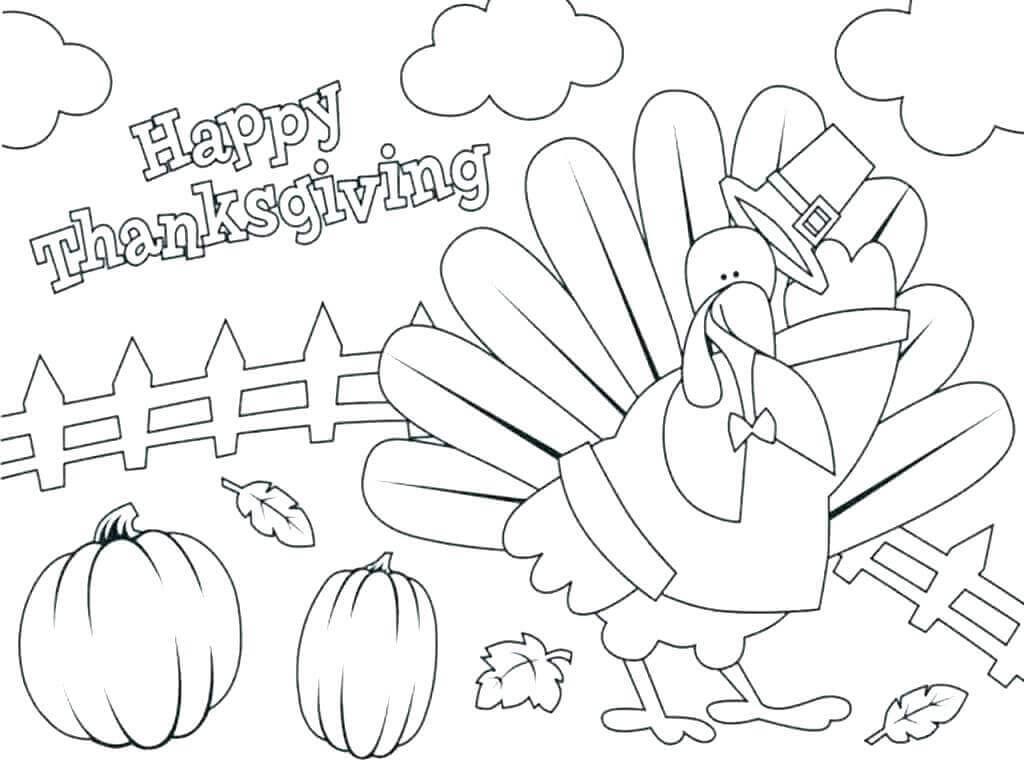 November Coloring Sheets Printable Thanksgiving