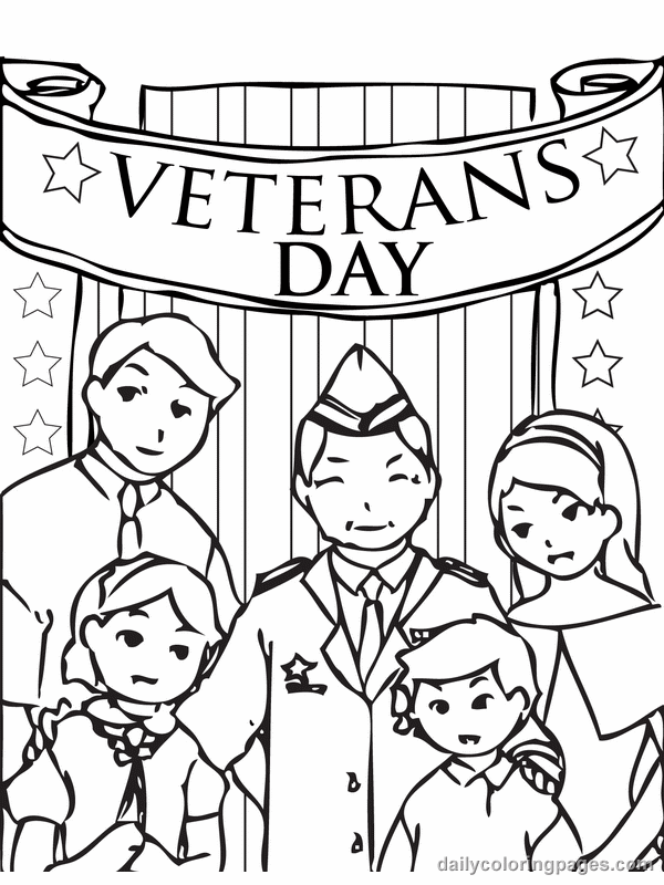 November Colouring Pages Veterans Day