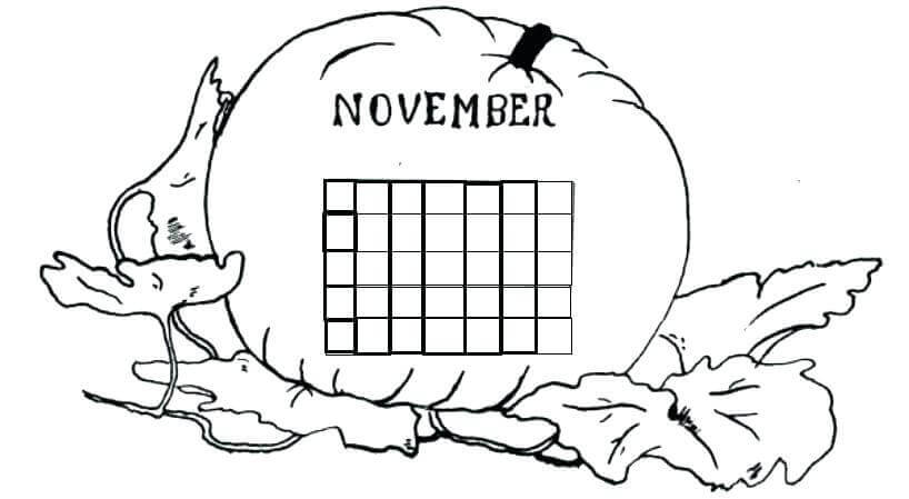 November Month Coloring Pictures To Print