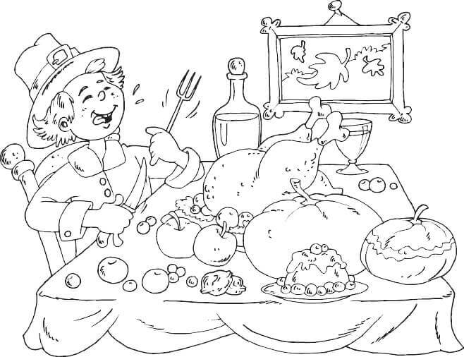 Pilgrims Coloring Pages To Print