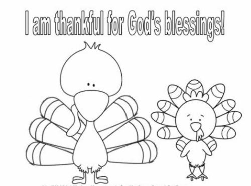 Preschoolers Turkey Coloring Pages