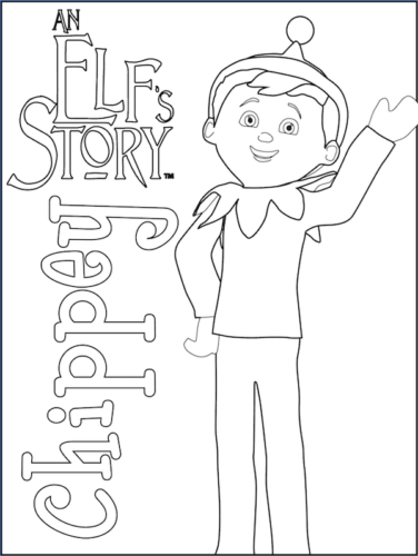 Printable Elf On the Shelf Coloring Pages
