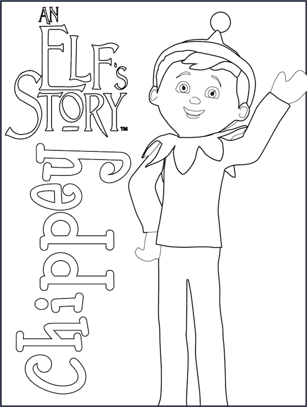 It's just a photo of Crafty Elf on the Shelf Coloring Pages Printable