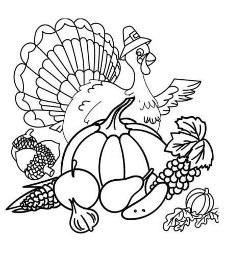 Printable Thanksgiving Turkey Coloring Pages