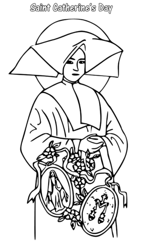 Saint Catherines Day Coloring Pages