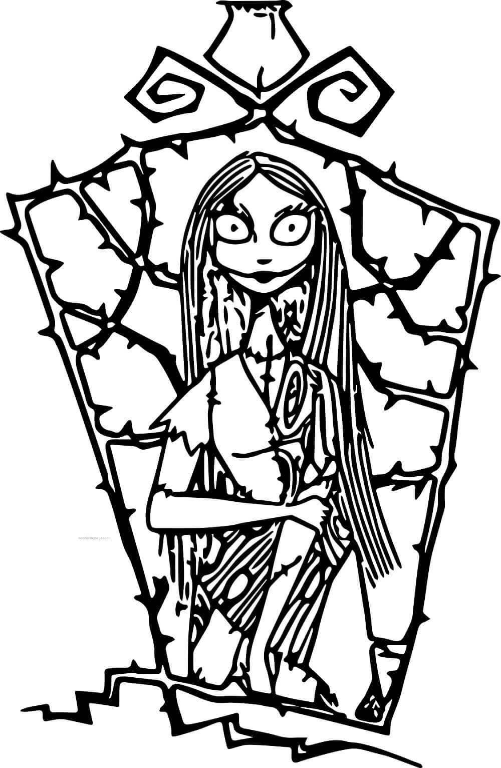 Sally Nightmare Before Christmas Coloring Page