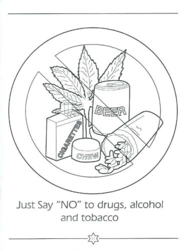 Say No To Drugs Coloring Pages Red Ribbon Week
