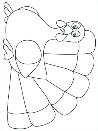 Simple Turkey Coloring Pages