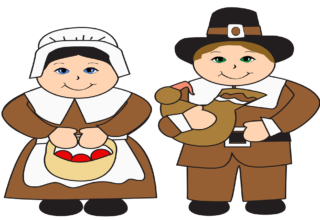 Thanksgiving Pilgrims Clipart