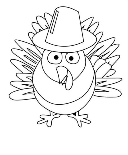 Thanksgiving Turkey Coloring Pages For Preschoolers