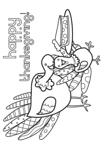 Thanksgiving Turkey Coloring Pictures To Print