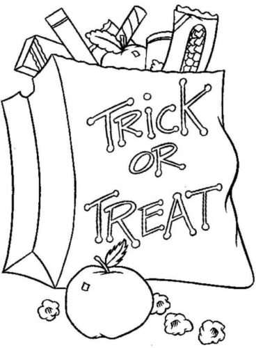 Trick Or Treat Coloring Images