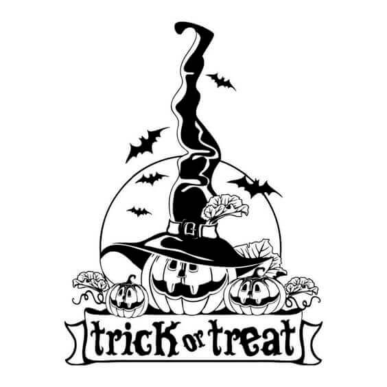 Trick Or Treat Coloring Pages PDF