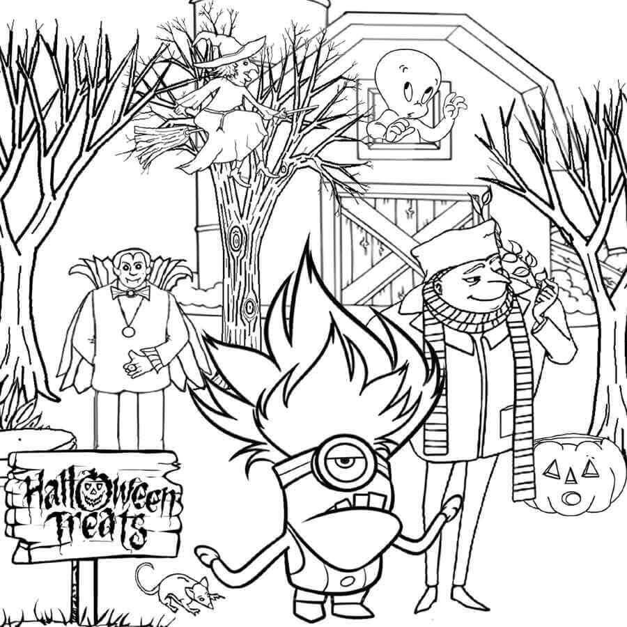 Trick Or Treat Coloring Sheets To Print