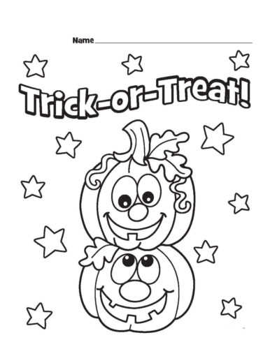Trick Or Treat Pages Printable