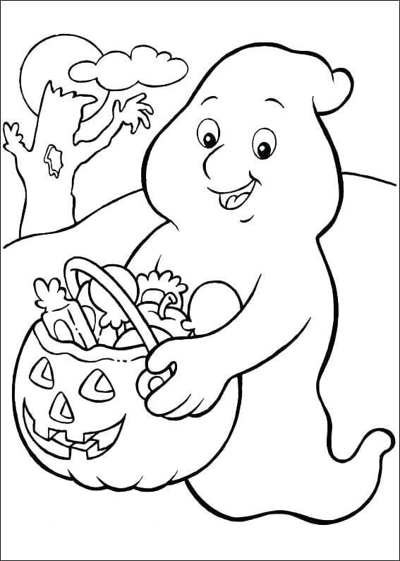 Trick Or Treating Coloring Pages Free