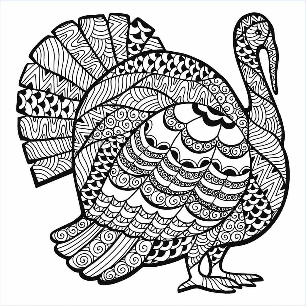 30 Free Turkey Coloring Pages Printable