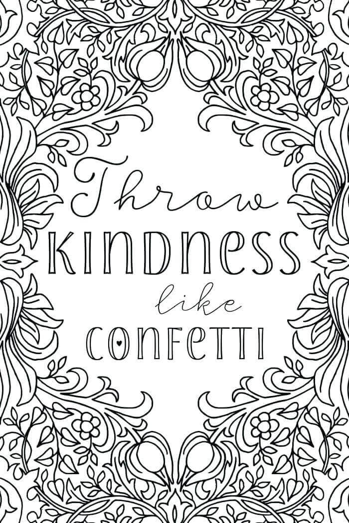 World Kindness Day Coloring Pages