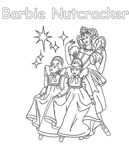 Barbie Nutcracker Coloring Page