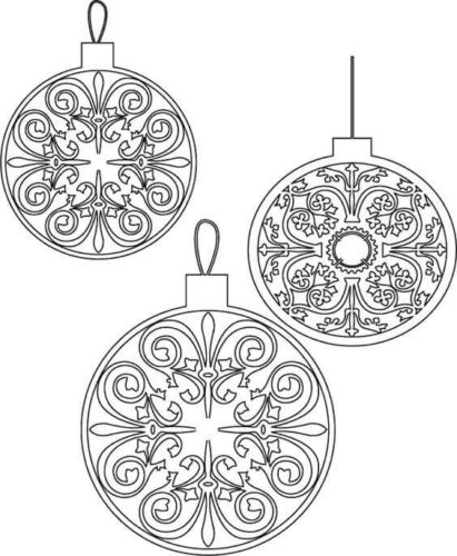 Beautiful Christmas Tree Ornament Coloring Page